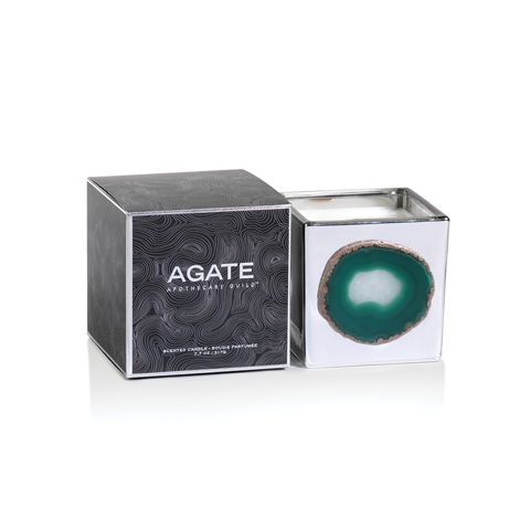 Agate Aphotocary Silver Guild Candle - Thistle