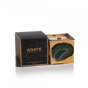 Agate Apothocary Gold Guild Candle - Siberian Fir