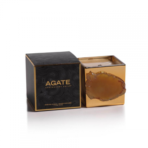 Agate Apothocary Gold Guild Candle - Wood Ash